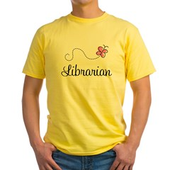 Cute Librarian Yellow T-Shirt