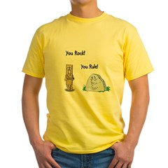 You Rock You Rule Yellow T-Shirt