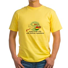 Stork Baby Bolivia USA Yellow T-Shirt