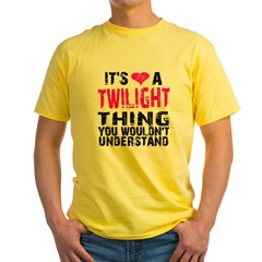 Twilight Thing v2 Yellow T-Shirt
