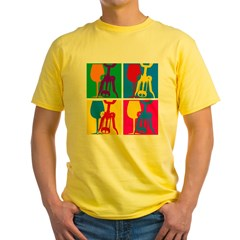 Pop Art Wine Yellow T-Shirt