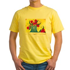 Red Tulips Yellow T-Shirt