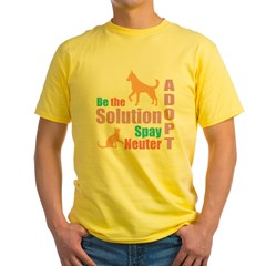 New Be The Solution Yellow T-Shirt