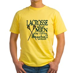 Men Play Lacrosse Yellow T-Shirt