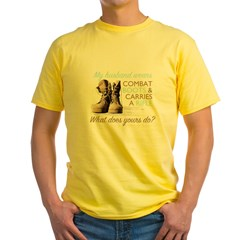 My Husband Wears Combat Boots Yellow T-Shirt