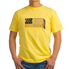 US Hockey Fla Yellow T-Shirt