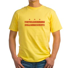 Flag_of_Washington DCpng Yellow T-Shirt