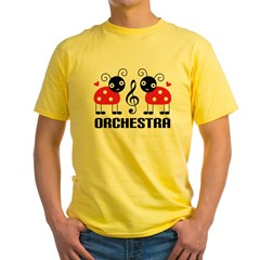 Ladybug Orchestra Music Yellow T-Shirt