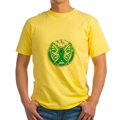 Organ-Donor-Butterfly-3-blk Yellow T-Shirt