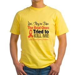 Breast Cancer Fake Yellow T-Shirt