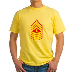 USMC Retired <BR>Master Gunnery Sergeant Yellow T-Shirt