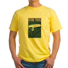 Retro Star Trek: TOS Poster Yellow T-Shirt