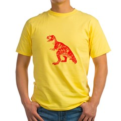 Red Dino Yellow T-Shirt
