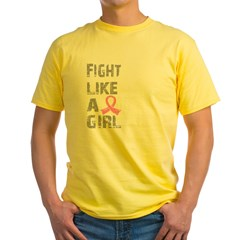 Fight Like A Girl Breast Cancer D 21.8 Yellow T-Shirt