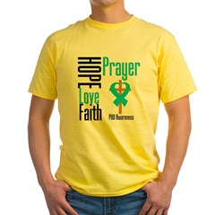 PKD Hope Prayer Cross Yellow T-Shirt