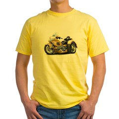 Goldwing Gold Trike Yellow T-Shirt