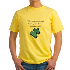 Pure Light, Perfect Diamond Yellow T-Shirt