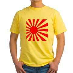 JAPANESE RISING SUN FLA Yellow T-Shirt