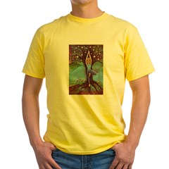 Vriksasana, the Tree Pose Yellow T-Shirt