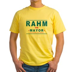 Rahm for Mayor Yellow T-Shirt