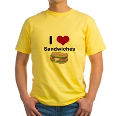 i love sandwiches Yellow T-Shirt