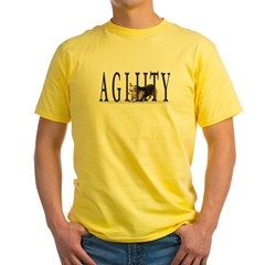 Pembroke Welsh Corgi Agility Long Sleeve Tee Yellow T-Shirt