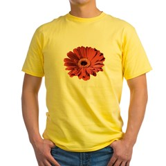 Red gerbera flower Yellow T-Shirt