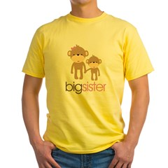monkey big sister Yellow T-Shirt