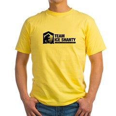 Team Iceshanty Ash Grey Yellow T-Shirt