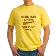 funny ukulele Yellow T-Shirt