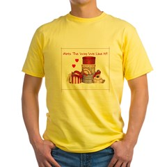Red Hat Yellow T-Shirt