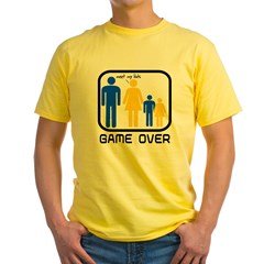Game Over Marriage Married Ba Yellow T-Shirt