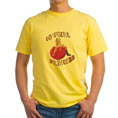 Cowgirl Princess Larger Yellow T-Shirt