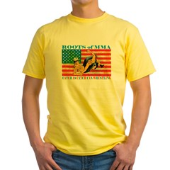 Roots of MMA Yellow T-Shirt