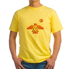 Anishinaabe tribal symbol Yellow T-Shirt