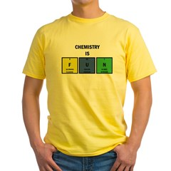 Chemistry is Fun Yellow T-Shirt