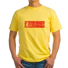 Singapore Flag Yellow T-Shirt