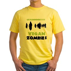Vegan Zombies Men's double dry short sleeve mesh s Yellow T-Shirt