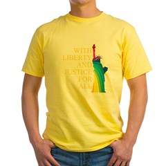 RAINBOW LIBERTY Yellow T-Shirt