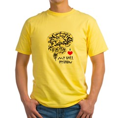 Lemon Pastel Men's Sports T-Shirt Yellow T-Shirt