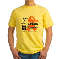 Daughter Orange Ribbon Yellow T-Shirt