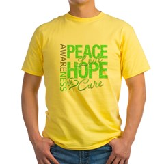 Muscular Dystrophy PeaceLoveHope Yellow T-Shirt
