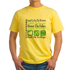 Muscular Dystrophy Collage Yellow T-Shirt