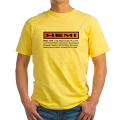 HEMI definition Yellow T-Shirt