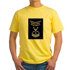 Congrats Master Chief Yellow T-Shirt