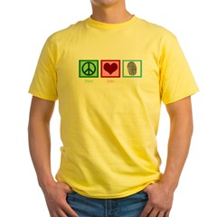 Peace Love CSI: Miami Yellow T-Shirt