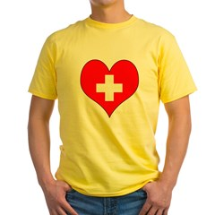 Switzerland Hear Yellow T-Shirt