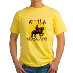 Attila 'Huns in the Sun' tour Ash Grey Yellow T-Shirt