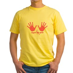 Cancer Support The Girls Yellow T-Shirt
