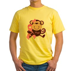 Monkey Cancer Hope Yellow T-Shirt